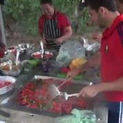Rugby / Equipe de France / Le barbecue du XV tricolore
