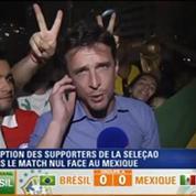 Le Soir BFM: Coupe du Monde: les supporters brésiliens gardent la foi malgré le match nul de la Seleção face au Mexique 1/2