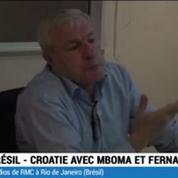 Football / Mboma et Fernandez devant Brésil Croatie