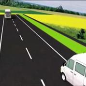 Accident dans l'Aube : une animation de la collision