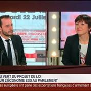 Carole Delga, secrétaire d'Etat chargée du Commerce, dans Le Grand Journal 2/7