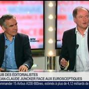 Bruno Jeudy, Henri Vernet et Emmanuel Lechypre, dans Le Grand Journal 6/7