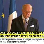 Air Algérie : «L'équipage avait demandé à rebrousser chemin» (Fabius)