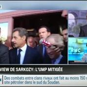 RMC Politique : Interview de Sarkozy: l'UMP est mitigée –