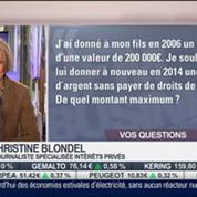 Les réponses de Christine Blondel aux auditeurs, dans Intégrale Placements – 1/2