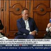 Benoit Cœuré, membre du directoire de la Banque centrale européenne, et Enrico Letta, ex-premier ministre italien, dans l'invité de BFM Business –