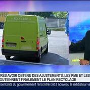 Ajustement du plan de recyclage en faveur des PME du secteur, Jean-Luc Petithuguenin, dans GMB