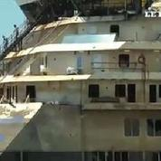 Le Concordia est arrivé au port de Gênes