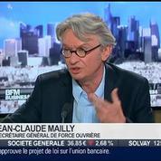 Jean-Claude Mailly, secrétaire général de Force Ouvrière, dans l'Invité de BFM Business –