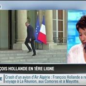 RMC Politique : Vol AH 5017: François Hollande est en première ligne pour gérer cette catastrophe –