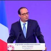 Hollande : «Le dialogue social ne peut pas être une perpétuelle surenchère»