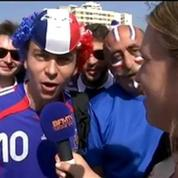 France-Allemagne: avant le match, ambiance euphorique du côté des supporters français