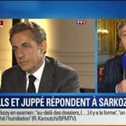 BFM Story: Manuel Valls et Alain Juppé répondent à Sarkozy