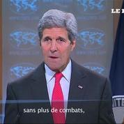 Gaza : pour Kerry, un cessez-le-feu durable passera par le désarmement du Hamas
