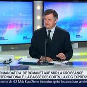 Aéroports de Paris enregistre une hausse de 45,7% de son bénéfice net semestriel, Augustin de Romanet dans GMB