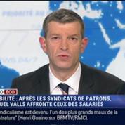 L'Édito éco de Nicolas Doze: Après les patrons, Manuel Valls affronte la colère des syndicats –