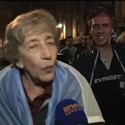 Football / Les supporters argentins euphoriqes à Paris
