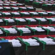 Ramallah : des centaines de cercueils vides pour symboliser les Palestiniens morts
