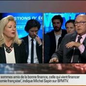 BFM Politique: L'interview BFM Business, Michel Sapin répond aux questions d'Hedwige Chevrillon 2/6