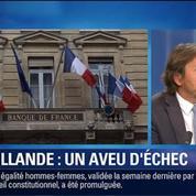BFM Story: Rentrée économique difficile: un aveu d'échec du gouvernent Hollande?