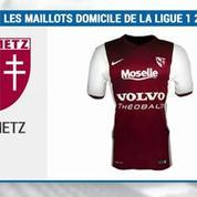 Les maillots domicile de Ligue 1 pour la saison 2015