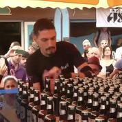 Un Français bat le record du monde d'ouverture de bières