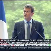 Émission spéciale Université du Medef: Discours de Manuel Valls, dans l'invité de BFM Business –
