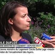 Encadrement des loyers: Cécile Duflot se dit