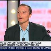 Grégoire Leclercq, président de la Fédération des auto-entrepreneurs, dans Le Grand Journal 5/7