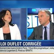 BFM Story: Immobilier: la loi Duflot va être corrigée pour relancer le bâtiment