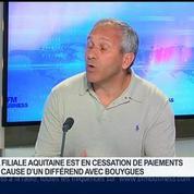 Villemain: Cessation de paiements d' Aquitaine à cause d'un différend avec Bouygues, Christophe Villemain, dans GMB –