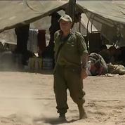 La frontière du sud d'Israël désertée