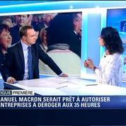 Politique Première: Emmanuel Macron s'est dit prêt à autoriser les entreprises à déroger aux 35 heures