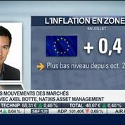 Zone euro: l'inflation tombe à 0,4% en juillet: Axel Botte, dans Intégrale Bourse –