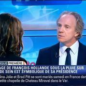 Politique Première: François Hollande sous une pluie battante, c'est une image d'un pouvoir qui prend l'eau