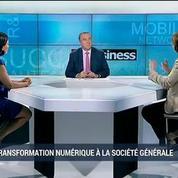 La Société Générale en pleine transformation numérique?: Françoise Marcadal-Delassales et Nathalie Wright, dans 01Business – 1/4