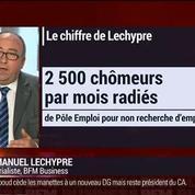 Emmanuel Lechypre : Chômage: 2 500 demandeurs d'emplois sont radiés par mois