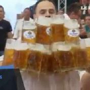 Le record du monde de porter de bière battu par un Allemand