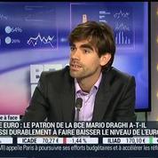 Olivier Delamarche VS Pierre Sabatier: Zone euro: Mario Draghi réussira-t-il à faire baisser durablement le niveau de l'euro?, dans Intégrale Placements – 1/2