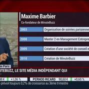 Made in Paris: Maxime Barbier, MinuteBuzz, dans Paris est à vous –