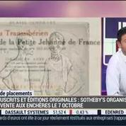 Investir dans les manuscrits de valeur et les éditions originales: Anne Heilbronn et Dominique Courvoisier –