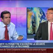 La carte bleue à écran digital, une première mondiale, Didier Lamouche, dans GMB –
