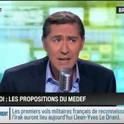 RMC Politique : Emploi: les propositions du Medef –