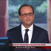 Les déclarations à retenir de la conférence de presse de François Hollande
