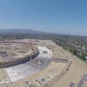 Les travaux du nouveau Campus d'Apple capturés par un drone