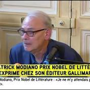 Prix Nobel : «Je ne m'y attendais pas du tout», lance Modiano