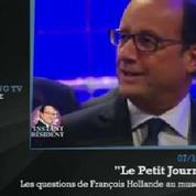 Zapping TV : François Hollande complètement paumé au musée d'histoire naturelle