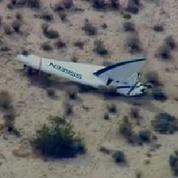 Un vaisseau spatial de Virgin Galactic s'écrase dans le Mojave