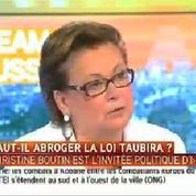 Christine Boutin soutiendra Sarkozy s'il se prononce pour l'abrogation de la loi Taubira