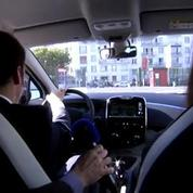 Emmanuel Macron essaie une Renault ZOE